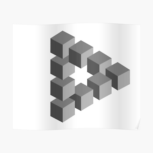 Triangle 2D shape Poster