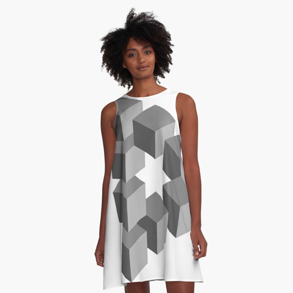 Triangle 2D shape A-Line Dress