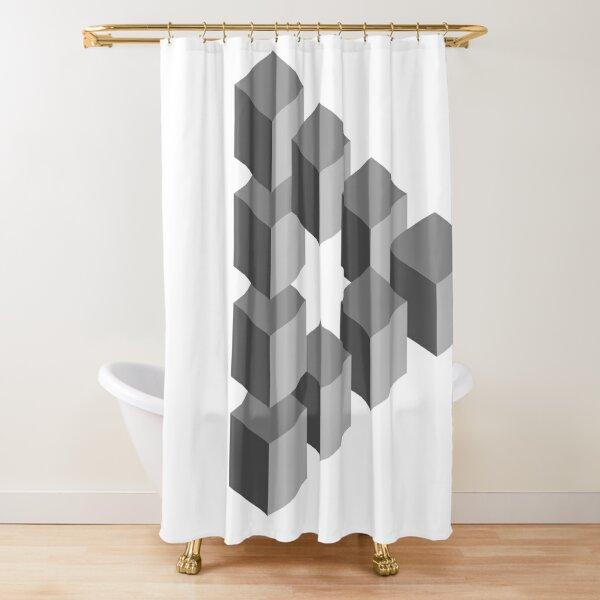 Triangle 2D shape Shower Curtain