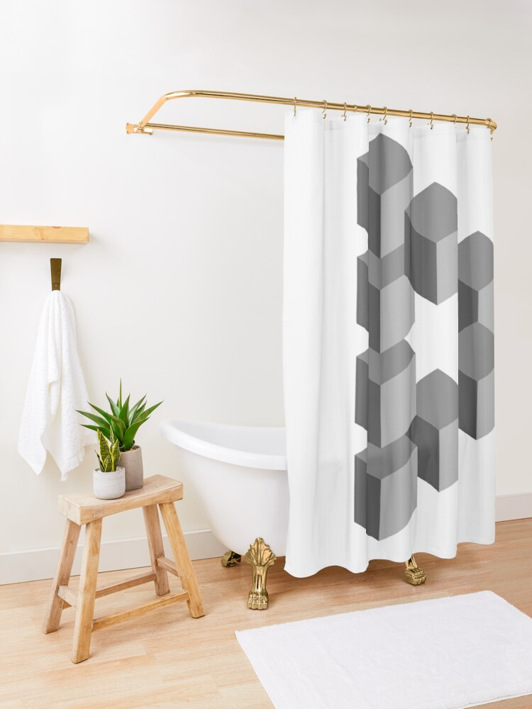 Alternate view of Triangle 2D shape Shower Curtain