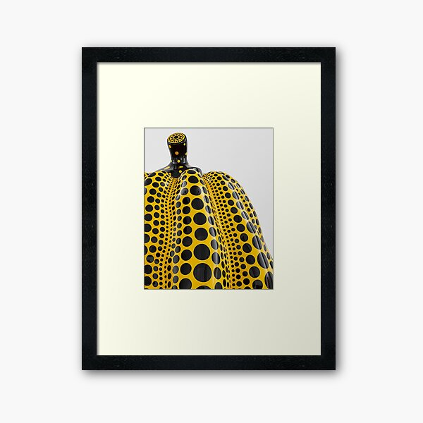 Yayoi Yellow Pumpkin Detail Polka Dot Framed Art Print