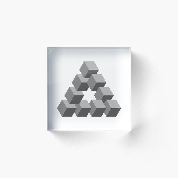 Triangle 2D shape Acrylic Block