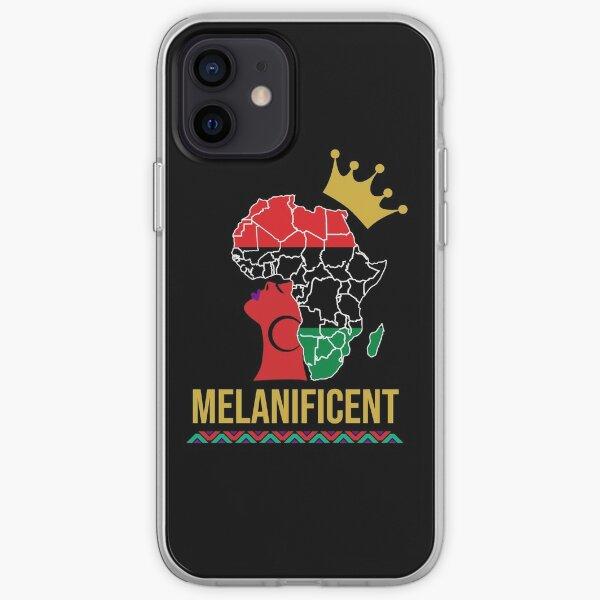 Melanificent Melanin Queen Black Girl Magic   iPhone Soft Case