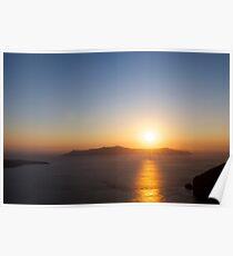 Sunset over the Caldera Poster