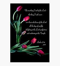 Psalm 27:4 Photographic Print