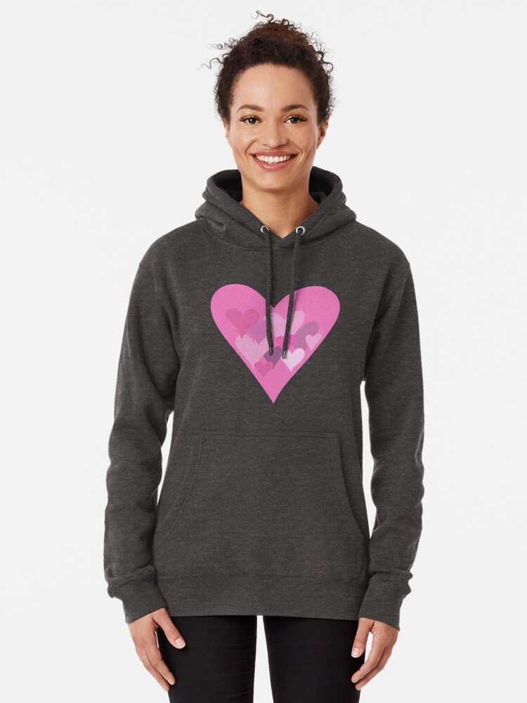 Alternate view of Hearts Pullover Hoodie