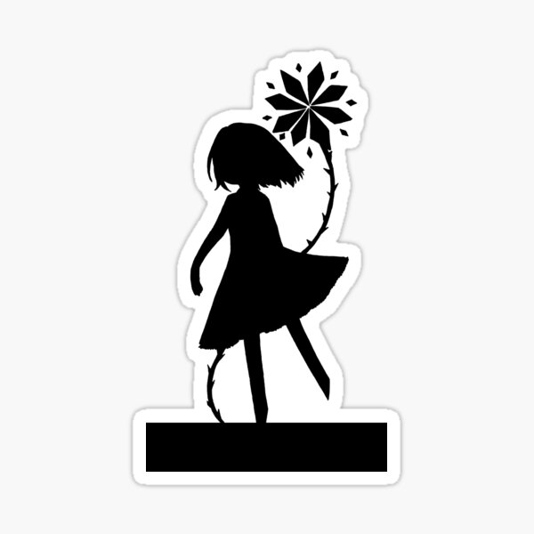 Flower Devil Silhouette Sticker