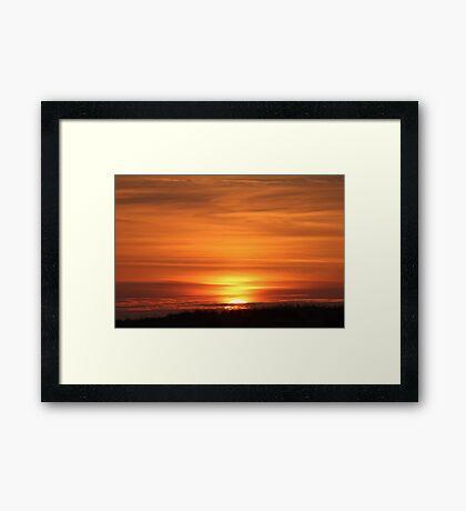 Sunset Over The Dune Framed Print