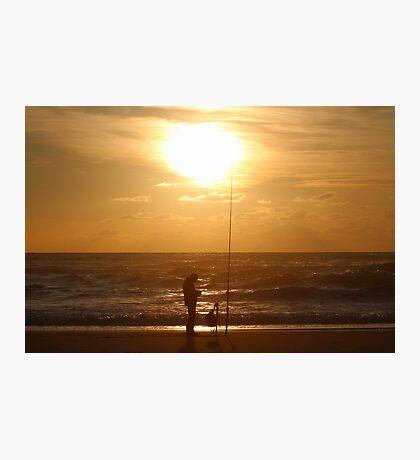 Fishing at Sunset II Photographic Print