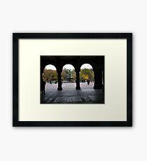 Central Park, Bethesda Fountain, Fall Colors Framed Print