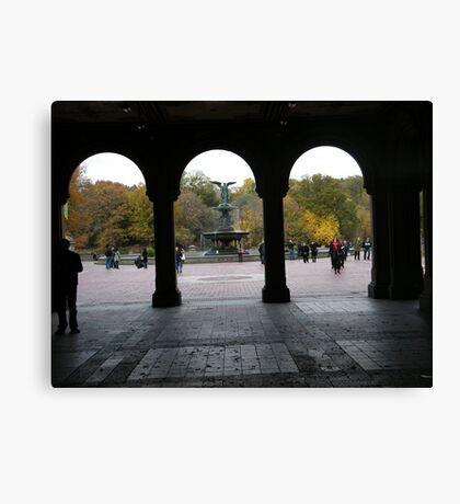 Central Park, Bethesda Fountain, Fall Colors Canvas Print