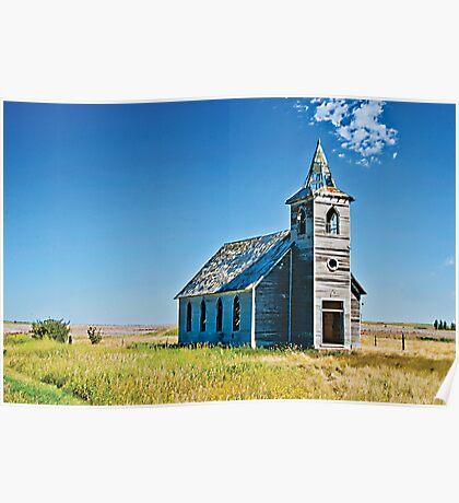 The Rocky Valley Lutheran Church, Dooley, Montana, USA Poster