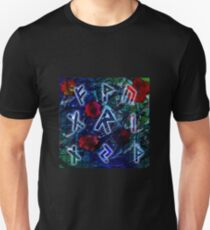 Runeflower - A Runic Design with Floral Accents Unisex T-Shirt