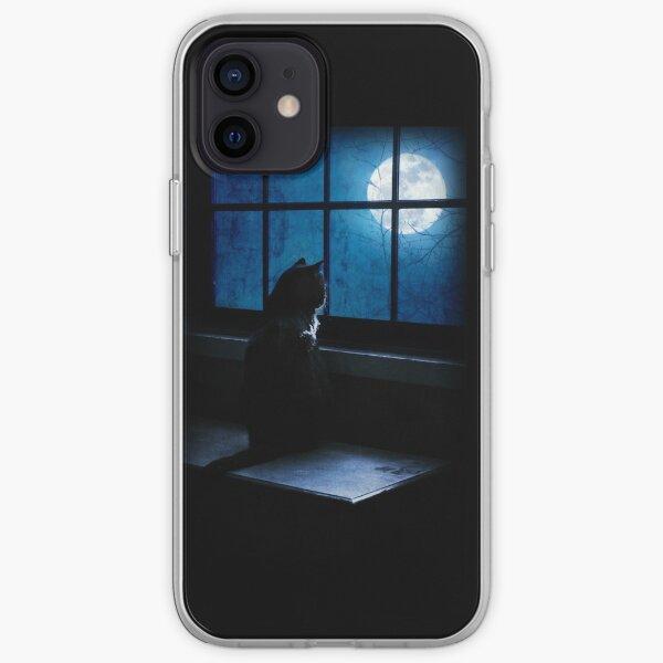 Black Cat Moon iPhone Soft Case
