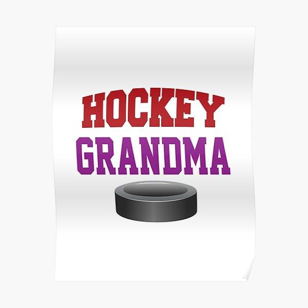 'Hockey Grandma' (White) Poster