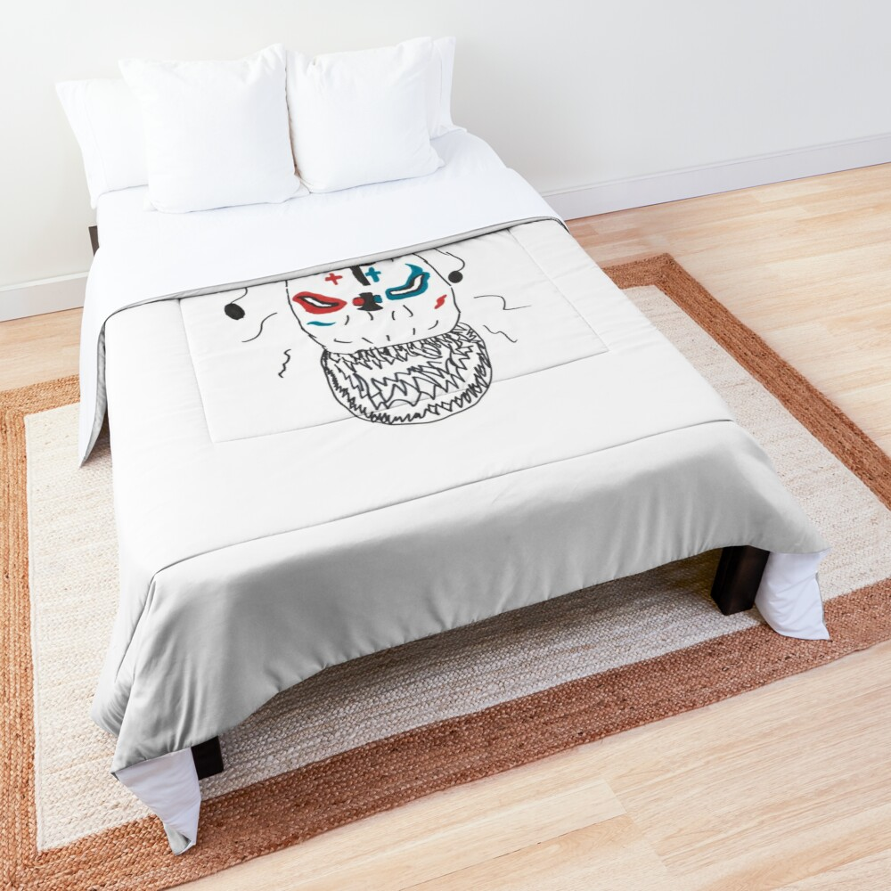 Minimalist Monster with Gnashing Teeth Comforter