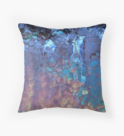 Waterfall...Rust and Wood ....Abstract Found Art #01 Throw Pillow