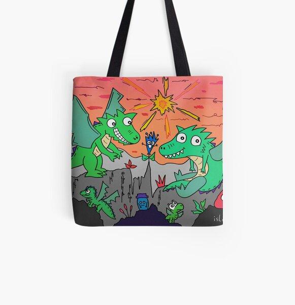 Drachenpaar Allover-Print Tote Bag