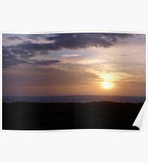 Sunset at Ocean Shores, Washington Poster
