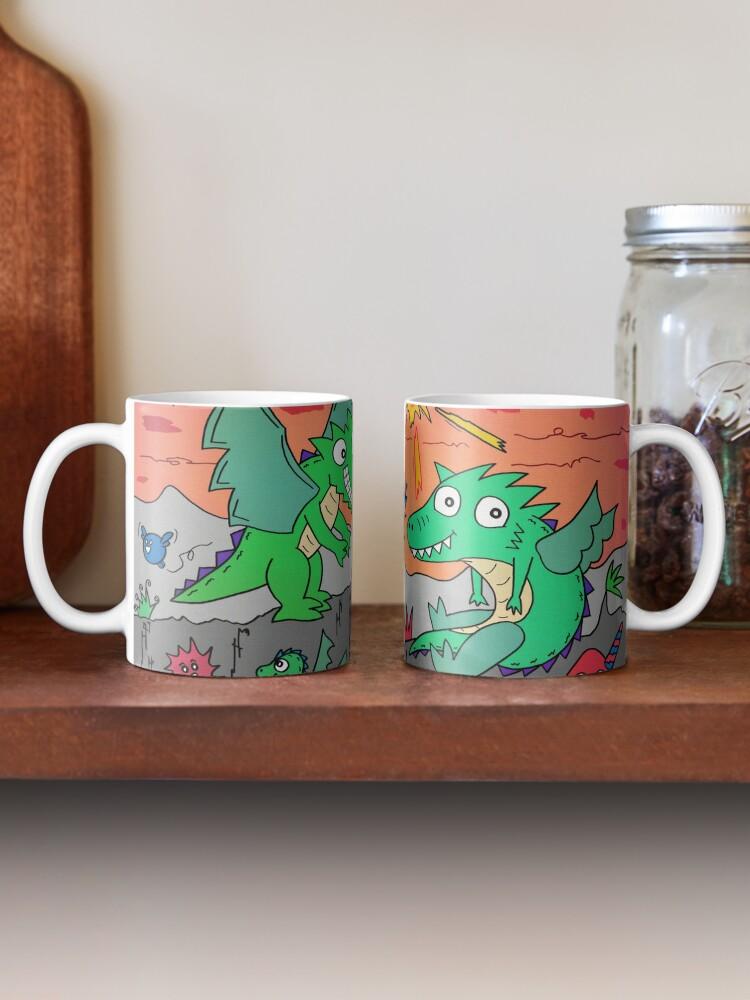 Alternative Ansicht von Drachenpaar Tasse