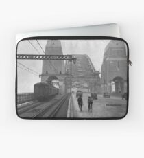 First cars and trains across Sydney Harbour Bridge, March 1932 Laptop Sleeve