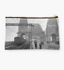 First cars and trains across Sydney Harbour Bridge, March 1932 Studio Pouch
