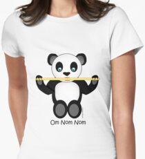 Xander Panda Noms Women's Fitted T-Shirt