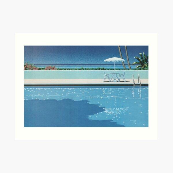 Hiroshi nagai Aesthetic vaporwave poster Art Print