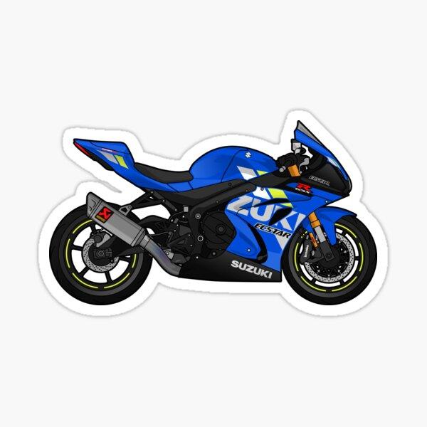 GSX-R 1000 2020 Akrapovic Blue Sticker