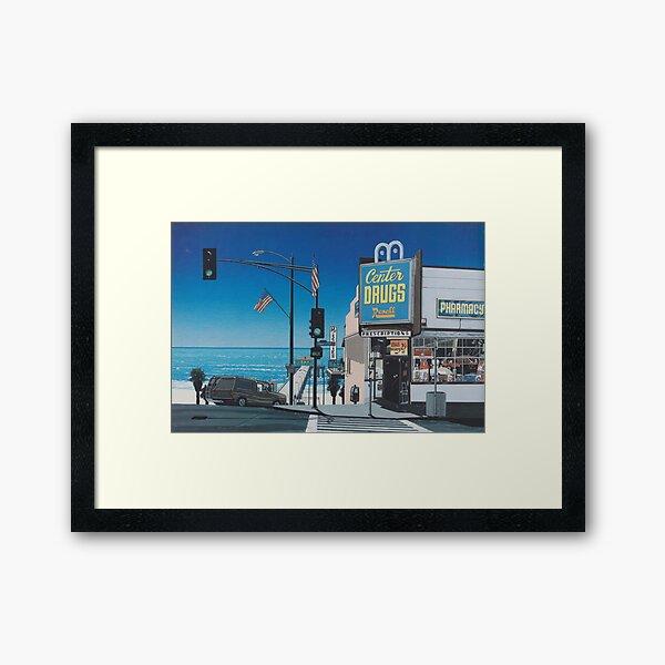 Hiroshi nagai Aesthetic vaporwave Framed Art Print