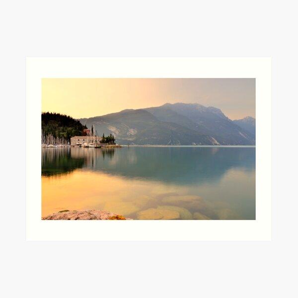 Un'altra mattina a Riva del Garda Art Print