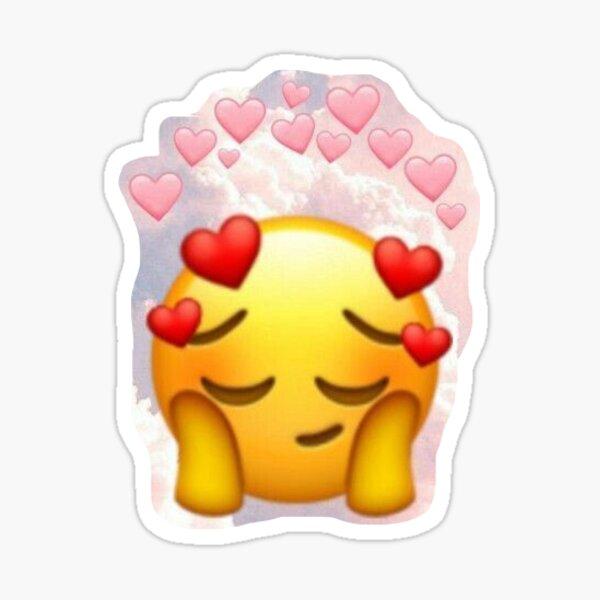 love emoji blushing Sticker