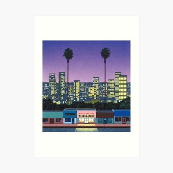 Hiroshi nagai Aesthetic vaporwave Art Print