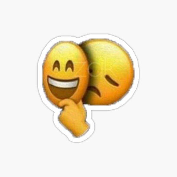 hiding my sadness emoji Sticker