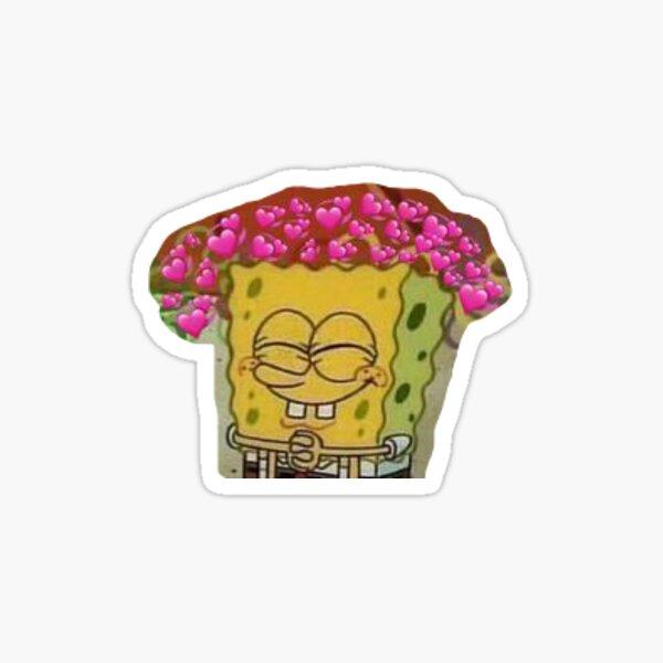 spongebob in love Sticker