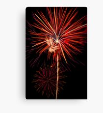 Awesome Fireworks Show! Canvas Print