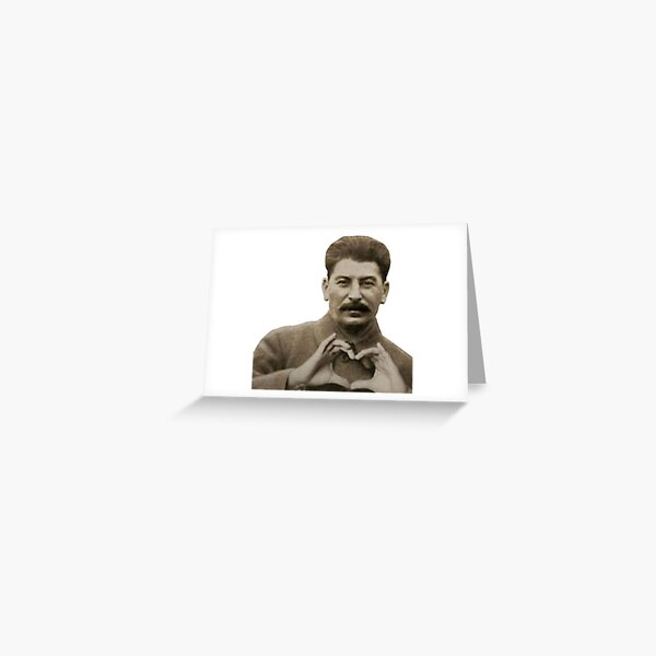 Stalin Heart Hands Greeting Card