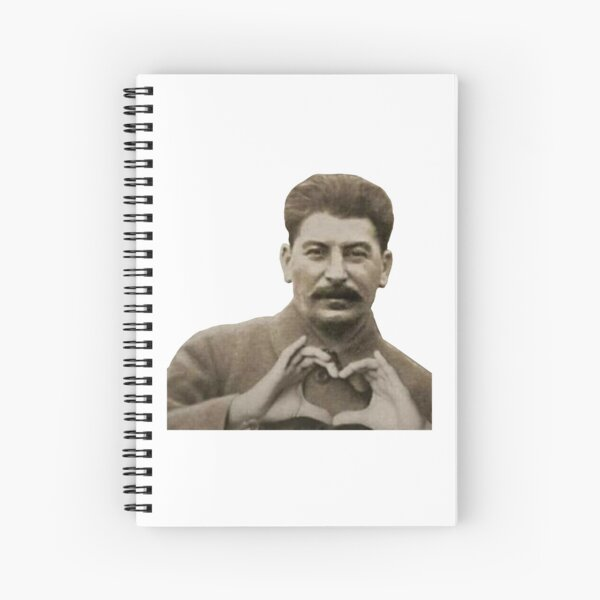 Stalin Heart Hands Spiral Notebook