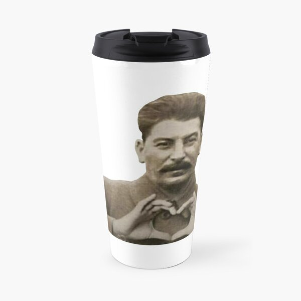 Stalin Heart Hands Travel Mug