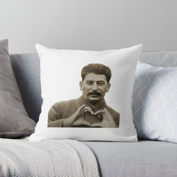 Stalin Heart Hands Throw Pillow