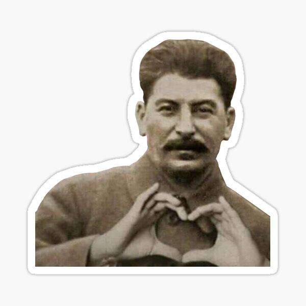 Manos del corazón de Stalin Pegatina
