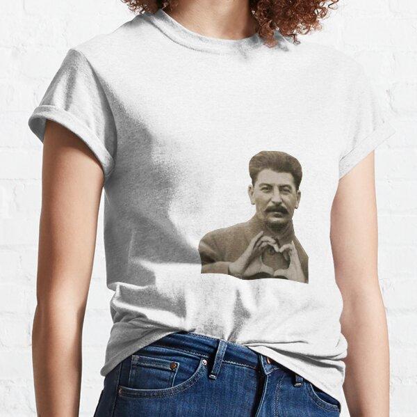 Coeur avec les doigts de Staline T-shirt classique