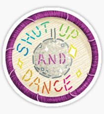 Walk the Moon Shut Up & Dance Embroidery Style Design Sticker