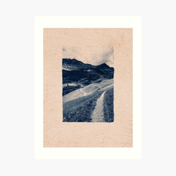 CLASSIC BLUE / Mountain Path Art Print
