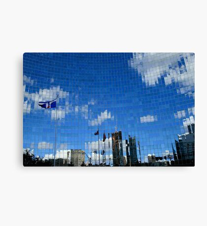 Mirrored City Toronto Canvas Print