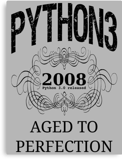 Black on Grey Vintage Design for Python 3 Advocates by ramiro