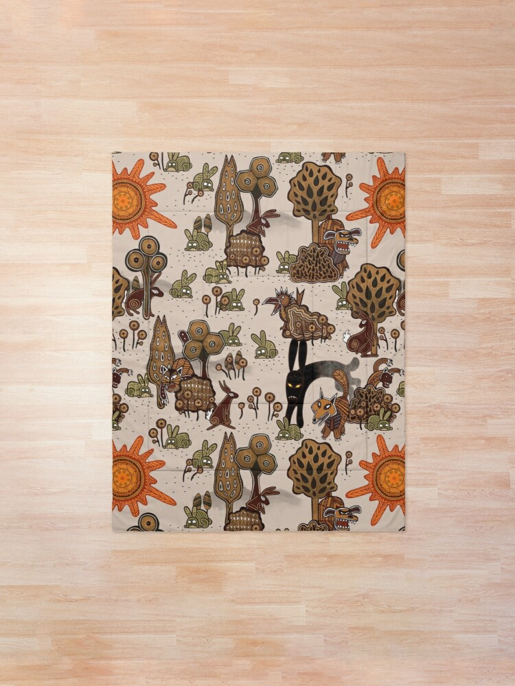 Alternate view of In The Beginning of the World - Watership Down Pattern Comforter
