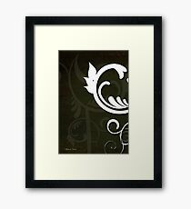 White Graphics 1 Framed Print
