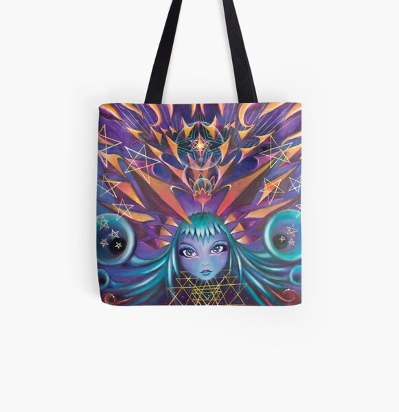 Star Burst All Over Print Tote Bag