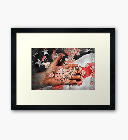 The Hearts of a Country Framed Print